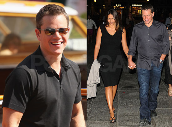 Photos of Matt Damon, Steven Soderbergh, And Luciana Damon Promoting The Informant at The 2009 Venice Film Festival