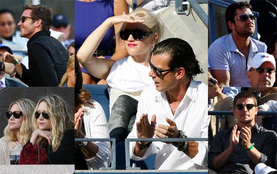 Photos of Gwen Stefani, Jake Gyllenhaal, Gavin Rossdale, Ashley Olsen, Mary-Kate Olsen at US Open Men's Final