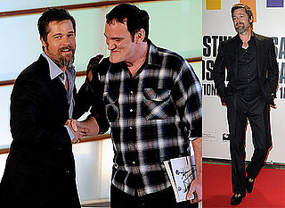 Brad Pitt and Quentin Tarantino at the Premiere of Inglourious Basterds in San Sebastian