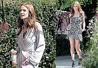 Photos of Ashlee Simpson Filming Melrose Place