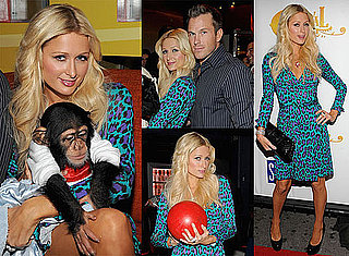 Photos of Paris Hilton With a Chimpanzee, Video of Paris Hilton on Supernatural