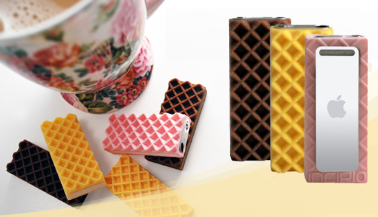 Incipio Wafer dermaSHOT Case For the iPod Shuffle Looks Like  a Wafer Cookie