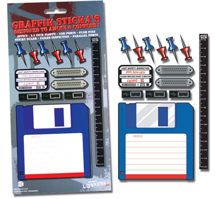 Floppy Disc and USB Port Stickers From Perpetual Kid