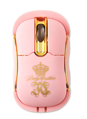 Juicy Couture Mouse Is Pink! Gold! Wireless!