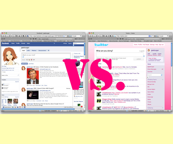 To Facebook or to Twitter? That Is the Question