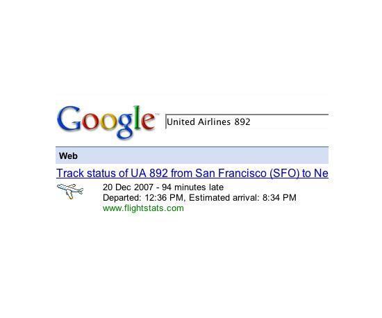Tracking Flights Using Google
