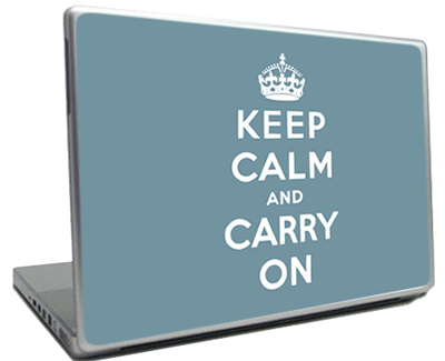 Keep Calm and Carry On Laptop Decals For Sale