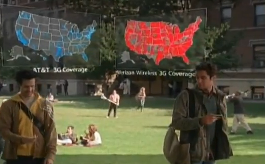 "Fun New ""There's a Map For That"" Verizon vs. AT&T Ad"