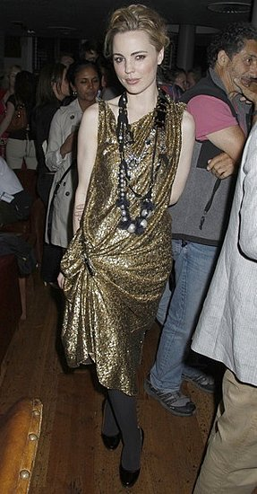 Photo of Melissa George Wearing Gold Lanvin Dress at Triangle Premiere in London