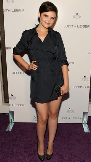 Photo of Ginnifer Goodwin Wearing Camilla and Marc Trench Dress at Judith Leiber Party in LA
