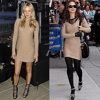 Chloe Sevigny and Eliza Dushku Wear The Same Nude Kimberly Ovitz Dress