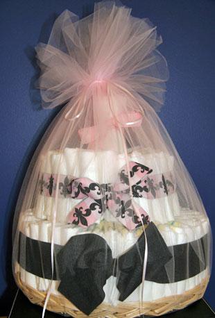 One Pretty Diaper Cake