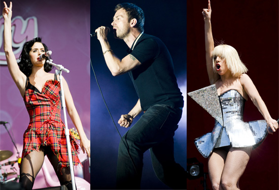 Photos From 2009 T In The Park Festival Including Katy Perry, Caleb Followill, Blur, Kings Of Leon, Lady GaGa, Razorlight etc