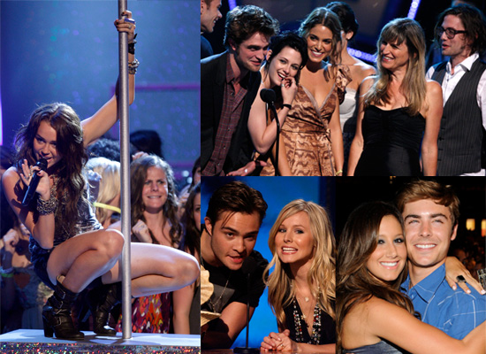 Photos From The 2009 Teen Choice Awards Show Including Twilight and Gossip Girl Cast, Miley Cyrus Poledancing, Jonas Brothers