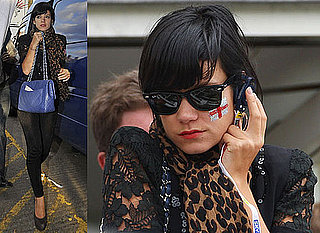 Photos of Lily Allen Watching England Versus Australia Cricket Ashes Test at The Oval With New Boyfriend