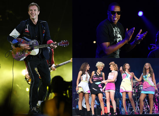 "Photos of Coldplay, Girls Aloud, Jay-Z at Wembley Stadium, Watch Performances Including ""Billie Jean"" and ""Empire State of Mind"""