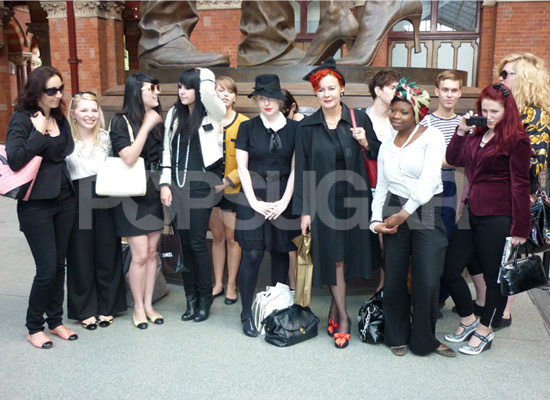 Chanel Flash Mob at Kings Cross, London, Fash Mob