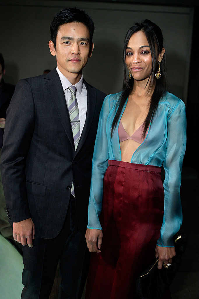 John Cho and actress Zoe Saldana