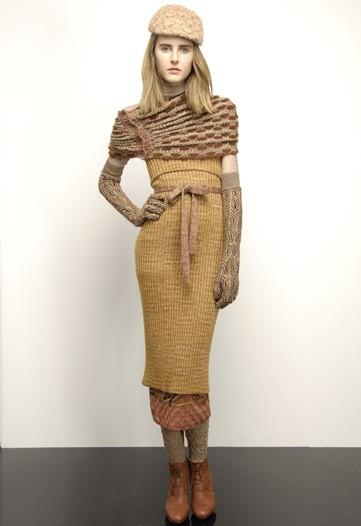 Angela Missoni Layers Signature Knitwear in Missoni Pre-Fall 2010