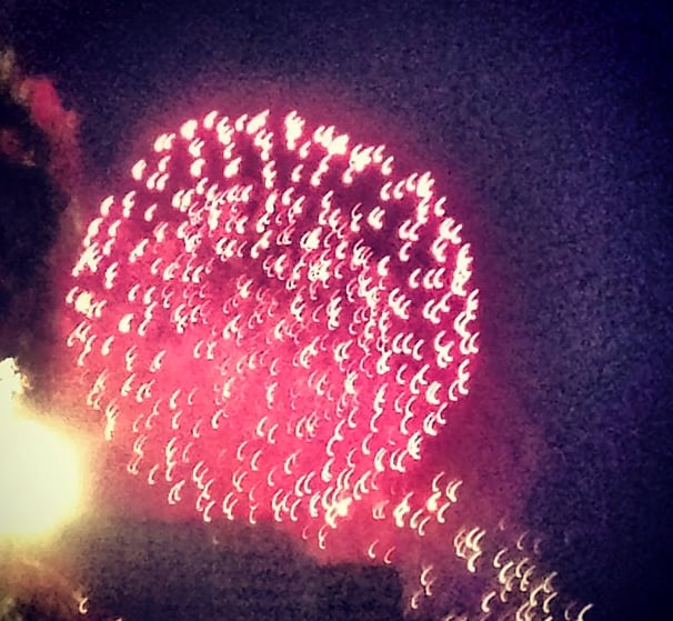 Zac Posen shared a view of the fireworks down in D.C. Instagram user ZacPosen