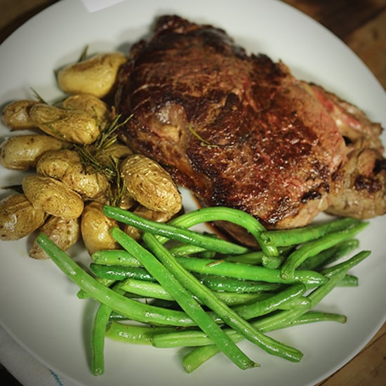 Steak, Roasted Potatoes, and Green Beans