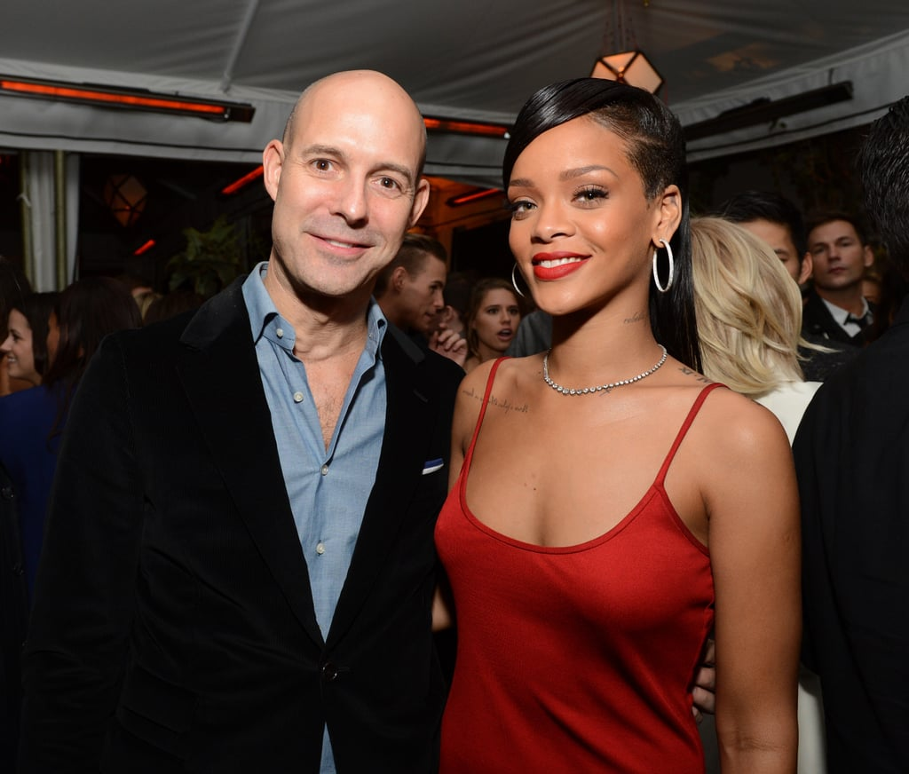 Rihanna Makes the Rounds and New Friends Inside GQ's Bash