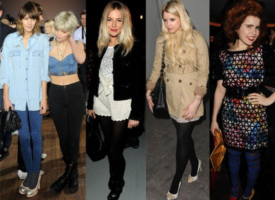 Photos of Celebs at Parties and in the Front Row at London Fashion Week 2010 Including Alexa Chung, Sienna Miller 2010-02-22 15:30:02