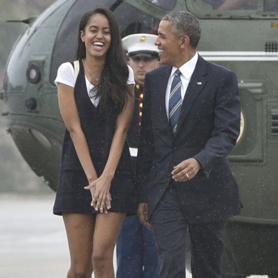Malia and Barack Obama in California Pictures April 2016
