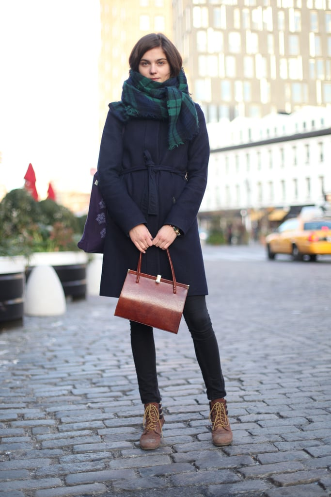 If you're prep through and through, you'll appreciate this checked scarf and structured satchel. Source: Le 21ème | Adam Katz Sinding