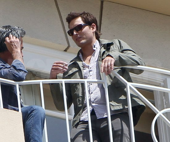 Slide Picture of Peter Facinelli Outside on Balcony at Eclipse Press Junket in LA