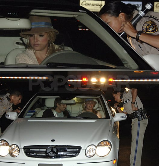 OMG, Britney (And Her Classy Sparkly Blue Eyeliner) Got Pulled Over!!!