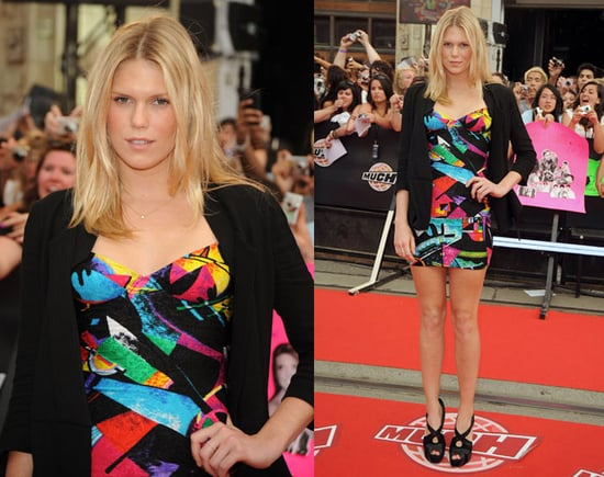 Alexandra Richards Attends MuchMusic Awards in Colorful Strapless Mini Dress
