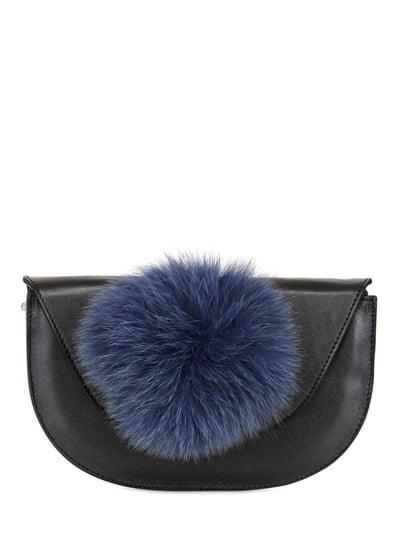 Kzeniya Ball Clutch With Fur Pompom ($230, originally $513)