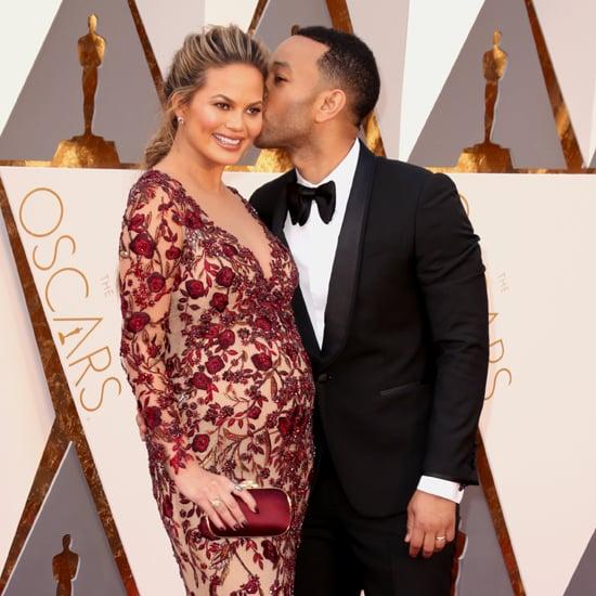 Chrissy Teigen's Marchesa Dress at Oscars 2016