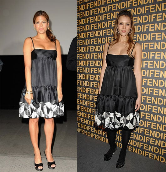 Who Wore It Better? Black Ruched Fendi Dress