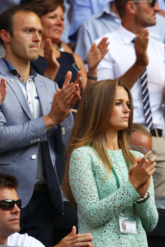 Andy Murray's girlfriend Kim Sears cheered him on during the men's final on July 7.
