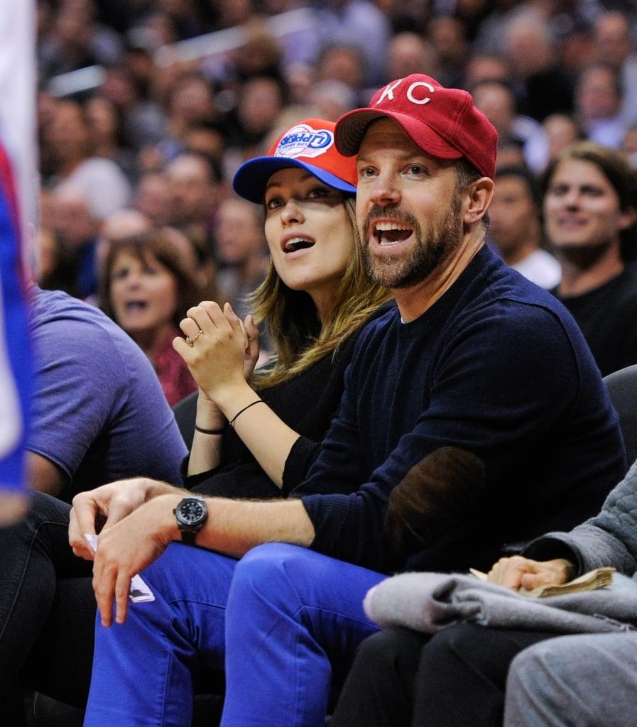 On Wednesday, Jason Sudeikis and Olivia Wilde sat courtside at an LA Clippers game.