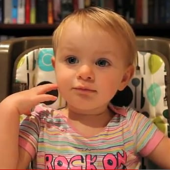 Funny Video of Baby Saying Mom's Her Favorite