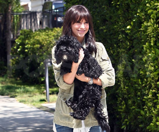 Slide Picture of Jennifer Love Hewitt and Dog