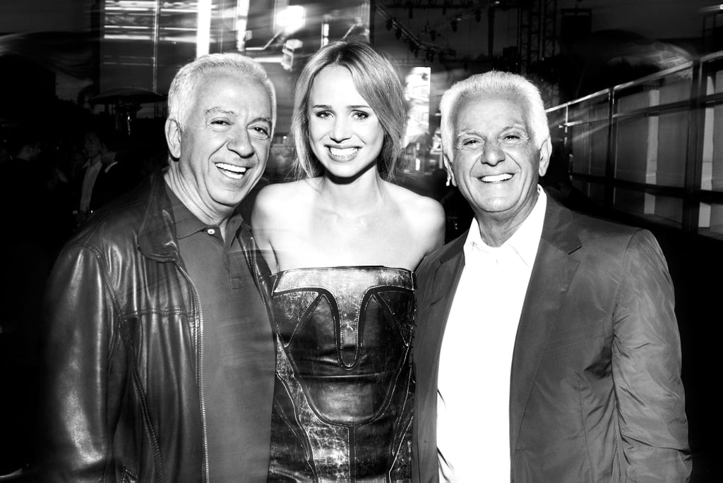 Elin pictured with Paul and Maurice Marciano.