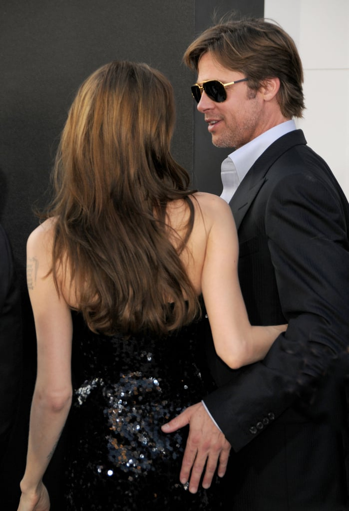 Brad had his hand on Angelina's backside at the July 2010 premiere of Salt in LA.