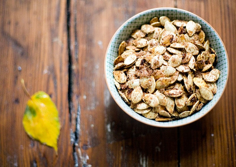 Cinnamon-Sugar Roasted Pumpkin Seeds
