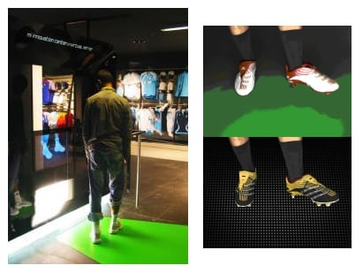 Trying On Shoes Made Easy At the Adidas Shop In Paris