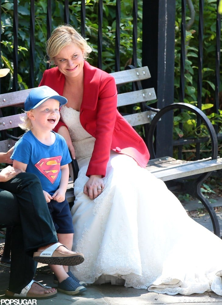 Amy Poehler got a visit from her son Archie Arnett.