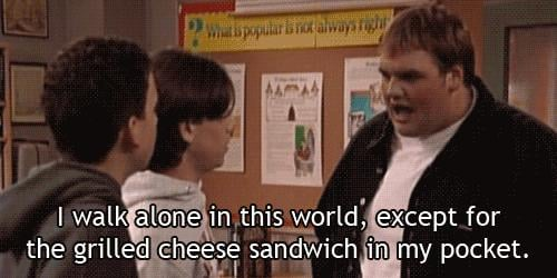 Even if you're the weirdo with a sandwich in your pocket.