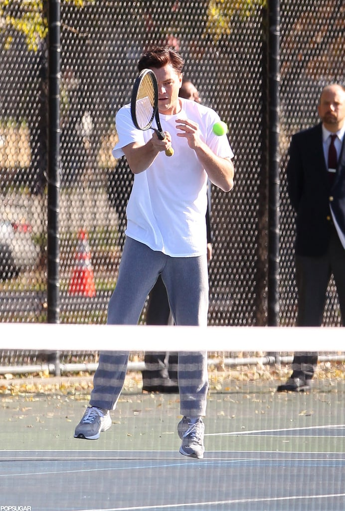 Leonardo DiCaprio showed off his athletic skills on the court.