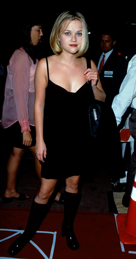 A young Reese Witherspoon was no stranger to the slinky LBD — complete with knee-high boots — at The House of Yes premiere in 1997.