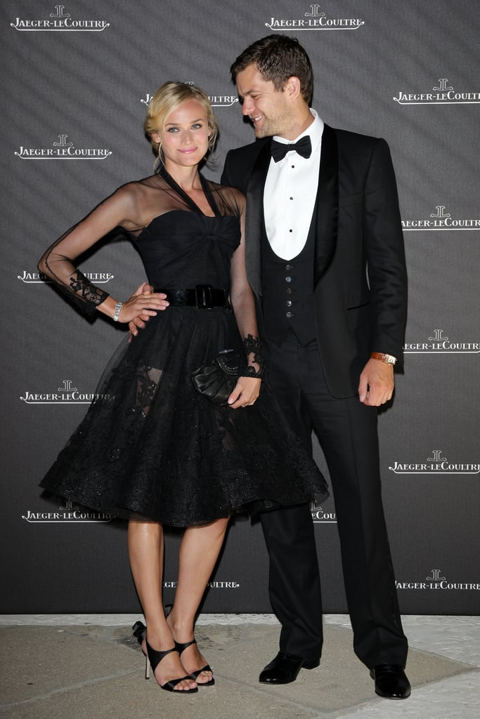 Joshua Jackson gave Diane Kruger a loving look at the Venice Film Festival in August 2008.