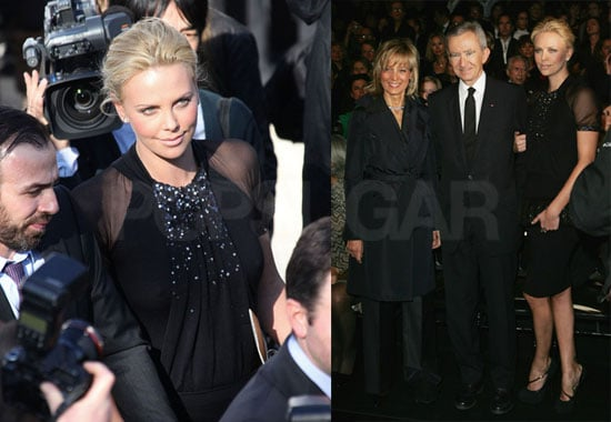 Photos of Charlize Theron at the Christian Dior Show During 2009 Paris Fall Fashion Week