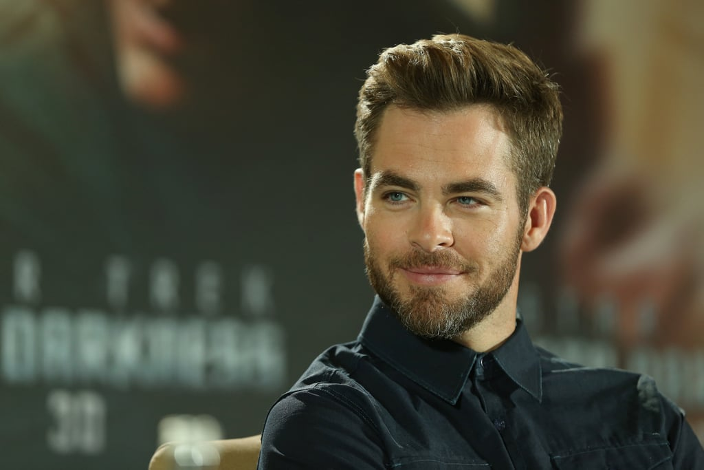 Chris Pine attended a Star Trek Into the Darkness press conference in Berlin.